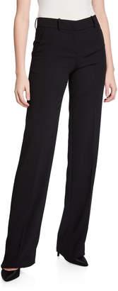 Giorgio Armani Wool Crepe Boot-Cut Trousers