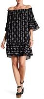 Bobeau Baby Doll Elbow Sleeve Dress