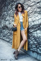 Forever 21 FOREVER 21+ Longline Faux Suede Coat