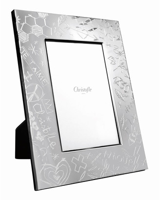 "Christofle Graffiti Picture Frame, 4"" x 6"""