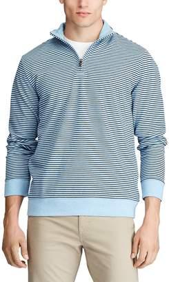Chaps Men's Classic-Fit Striped Quarter-Zip Pullover
