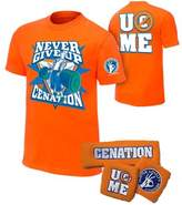 Freeze John Cena Boys Cenation Kids WWE Costume T-shirt Wristbands-XS (4-5)