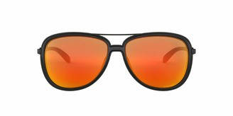 Oakley Women's Split Time Non-Polarized Iridium Aviator Sunglasses MATTE BLACK 58.2 mm