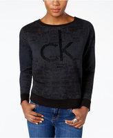 Calvin Klein Jeans Flocked Logo Sweatshirt