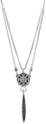 Konstantino Circe Sterling Silver & Black Spinel Necklace