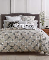 Charter Club Damask Designs Pima Cotton Outlined Geo 3-Pc. King Duvet Cover Set