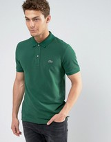 Lacoste Slim Fit Pique Polo In Green