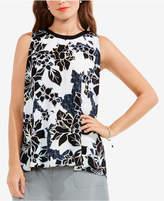 Vince Camuto Floral-Print Tie-Back Top