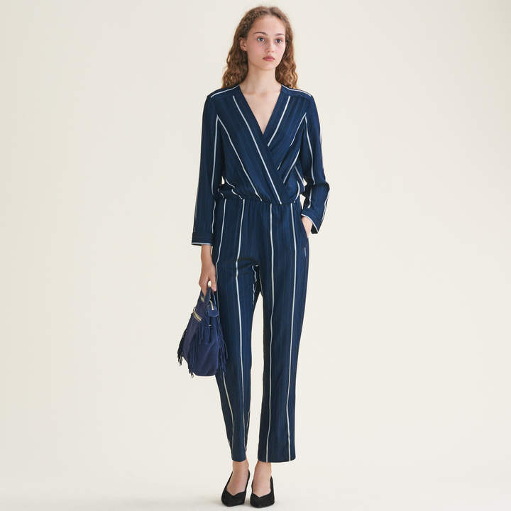 Maje Striped jumpsuit