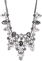 Love Rocks Black & Gray Crystal Pear-Cut Statement Necklace