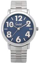 Speidel Bold Numbers Men's Watch,Stainless Steel Blue Face, Metal Expansion Band - Stainless Steel