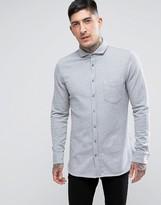 BOSS ORANGE by Hugo Boss Cattitude Slim Fit Jersey Shirt Gray