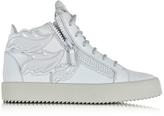 Giuseppe Zanotti Light Gray Leather High Top Sneaker