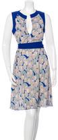 Tory Burch Floral Print Sash-Tie Dress