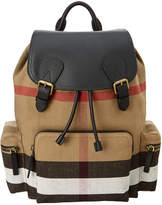 Burberry House Check & Leather Rucksack