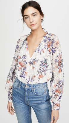 Rebecca Taylor Long Sleeve Toile Top