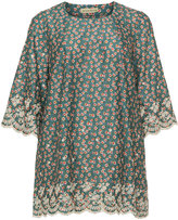 Isolde Roth Plus Size Floral print cotton tunic