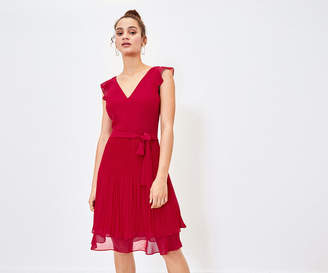 Oasis Pleated Skater Dress