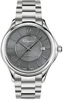 Salvatore Ferragamo Time 41mm Stainless Steel Watch, Gray