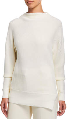 Club Monaco Asymmetrical Mock-Neck Sweater