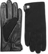 Hugo Boss - Harios Gabardine And Leather Gloves