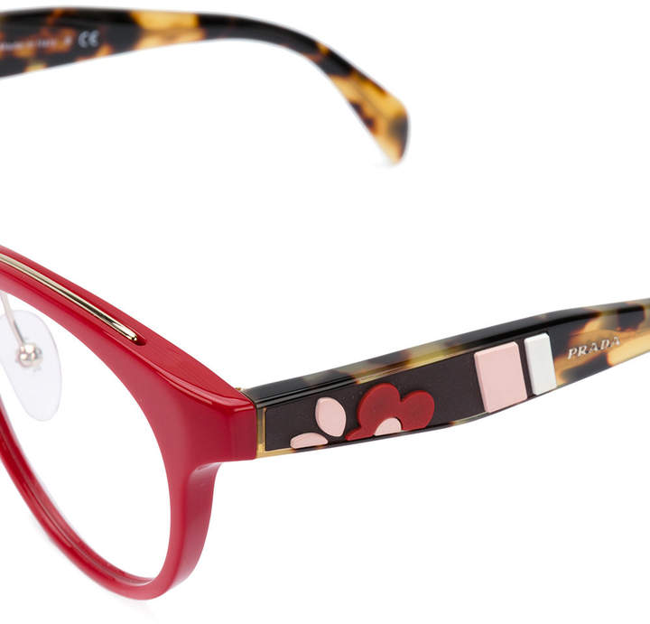 Prada round frame glasses