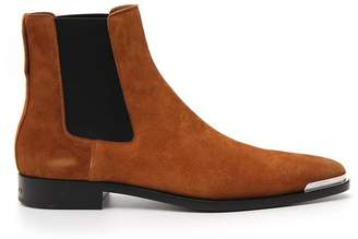 Givenchy Metal Front Suede Chelsea Boots