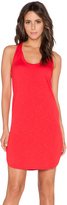 Lanston French Terry Scoop Racerback Mini Dress
