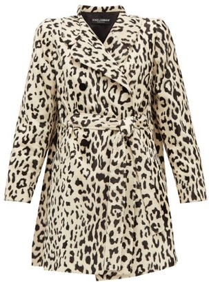 Dolce & Gabbana Double-breasted Leopard-print Faux-fur Coat - Womens - Leopard