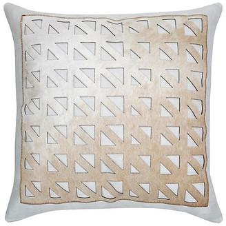 The Piper Collection Mason 22x22 Pillow - Ice/Camel