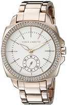 Vince Camuto Women's VC/5262WTRG Swarovski Crystal-Accented Rose Gold-Tone Bracelet Watch