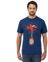 Weird Fish Blue 'tabasco' Print T-shirt