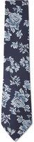 Duchamp Rose Pattern Silk Tie