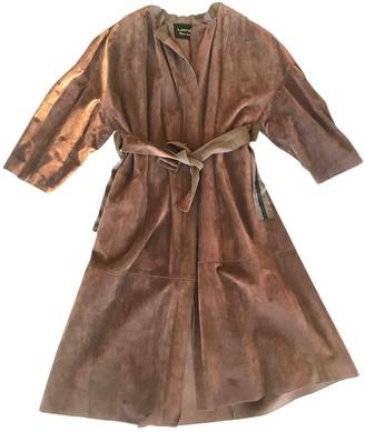 Lanvin Brown Suede Coat for Women
