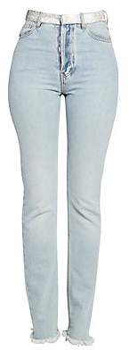 Alexandre Vauthier Women's Rhinestone-Embellished Straight Leg Jeans