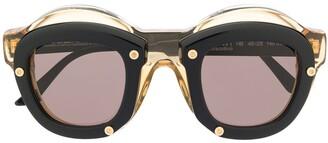 Kuboraum Double-Round Frame Sunglasses
