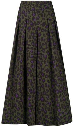 Boutique Moschino Pleated Leopard Print Skirt