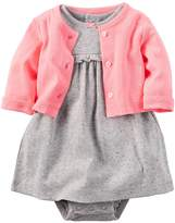 Carter's Baby Girls' 2-Piece Dot Dress and Cardigan Set
