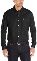 Cinch Men's Modern Fit Long Sleeve Button One Open Pocket Solid Basic