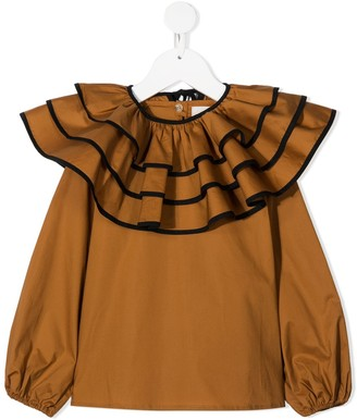 Touriste Ruffle-Collar Blouse