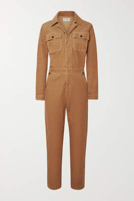 Frame Caitlin Cotton-blend Corduroy Jumpsuit - Light brown