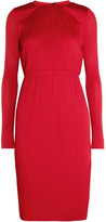 Max Mara Plissé-jersey Dress - Red