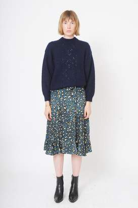 soeur Gine Knitted Jumper In Navy - 2