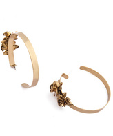 Citrine by the Stones Gold Honey Hoop Earrings