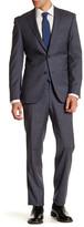 Simon Spurr Charcoal Checked Two Button Notch Lapel Regular Fit Suit