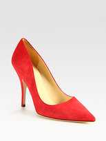 Kate Spade New York Licorice Suede Point Toe Pumps
