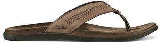 OluKai Men's Hawai'iloa Kia Ihu Leather Sandals