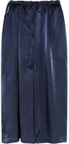 Jil Sander Satin Midi Skirt - Navy