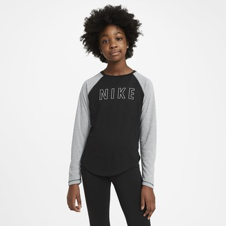 Nike Big Kids' (Girls') Long-Sleeve Training Top Dri-FIT Trophy