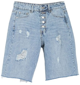 Tractr High Rise Relax Bermuda Shorts